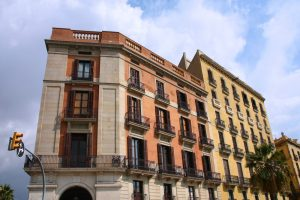 Derecho de vuelo en centro urbano de Barcelonaona
